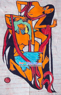 Batik Hanging-Ancient Love