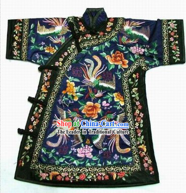 100% Hand Made Embroidery Phoenix Chinese Empress's Robe