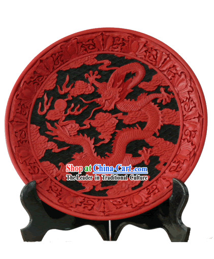 Beijing Palace Lacquer Works-Dragon King Plate