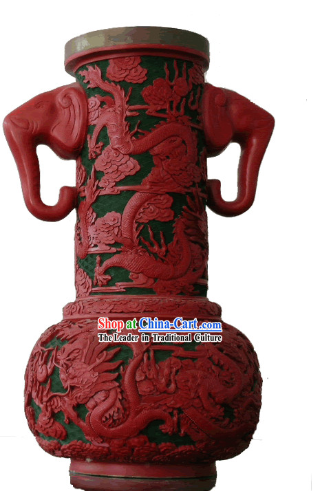 Chinese Palace Lacquer Works-Double Ears Xiang Zun