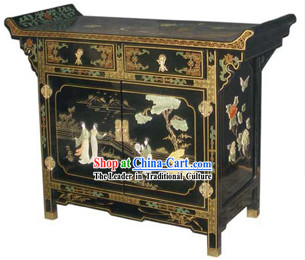 Chinese Palace Lacquer Ware Cabinet-Meeting