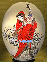 Chinese Wonders Hand Painted Colorful Egg-Zhao Jun(one of four ancient beauties)