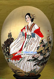 Chinese Wonders Hand Painted Colorful Egg-Diao Chan(one of four ancient beauties)