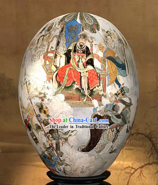 Chinese Wonders Hand Painted Colorful Egg-Dragon King of West Journey