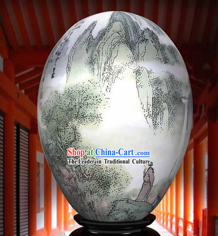 Chinese Wonders Hand Painted Colorful Egg-Li Bai Poet