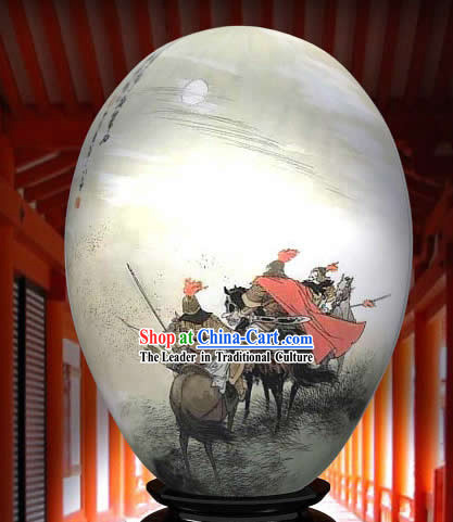 Chinese Wonders Hand Painted Colorful Egg-Hero Brothers Painting