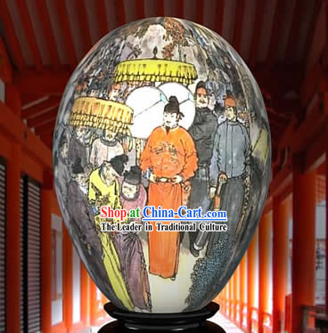 Chinese Wonder Hand Painted Colorful Egg-Ancient Emperor Family Painting