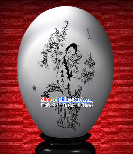 Chinese Wonder Hand Painted Colorful Egg-Xiao Zhi of The Dream of Red Chamber
