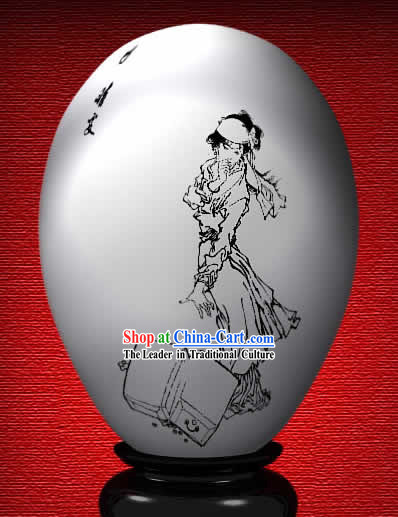 Chinese Wonder Hand Painted Colorful Egg-Qing Wen of The Dream of Red Chamber