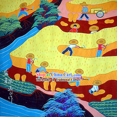 Chinese Farmer Art Painting - Summer Time