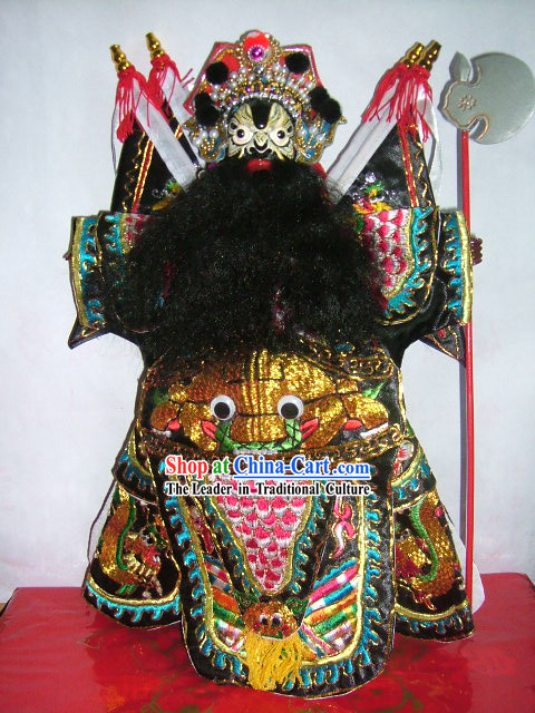 Chinese Classic Hand Puppet-Zhang Fei of Five Tiger Generals
