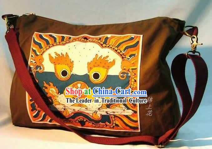 Classic Batik Brave Dragon Flax Bag