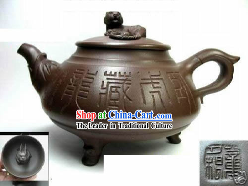 Chinese Classic Hand Made Teapot-Crushing the Tiger and Hiding the Dragon