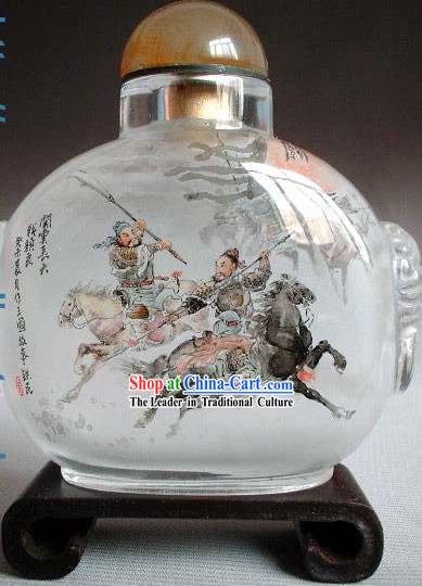 Snuff Bottles With Inside Painting Characters Series-Heroes Fighting