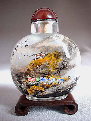 Snuff Bottles With Inside Painting Landscape Series-Chinese Autumn
