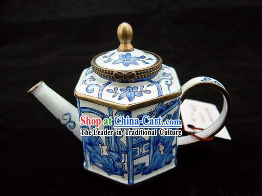 Chinese Classic Hand Painted Enamel Kettle-Back to Tang Dynasty