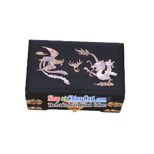 Chinese Chopsticks Box and Jewel Caskets-Dragon and Phoenix Love