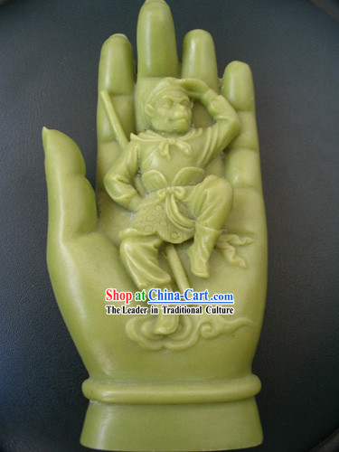 Chinese Classic Treasure-Monkey King in the Hand of Buddha