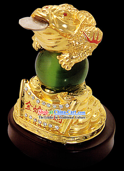Chinese Classic Gold Toad Bringing Treasures and Fortunes