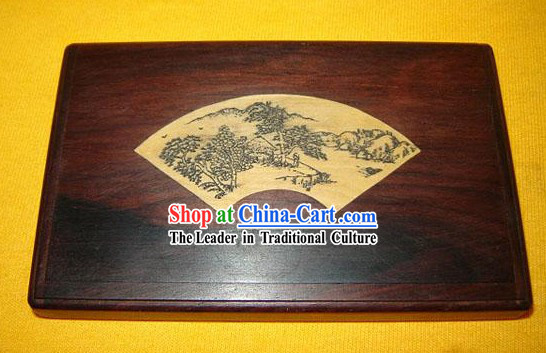 Chinese Classic Hand Carved Business Card Box