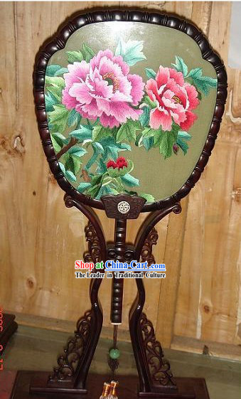 Chinese Classic High Double-Sided Embroidery Handicraft-Peony