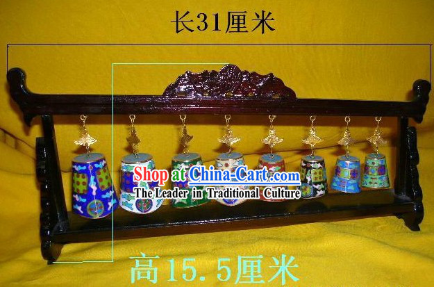 Chinese Stunning Palace Cloisonne Collectible-Bian Zhong