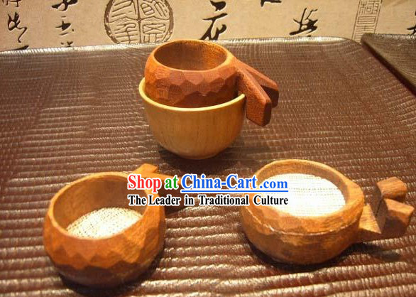 Chinese Hand Made Wooden Tea Tool-Cup Filter