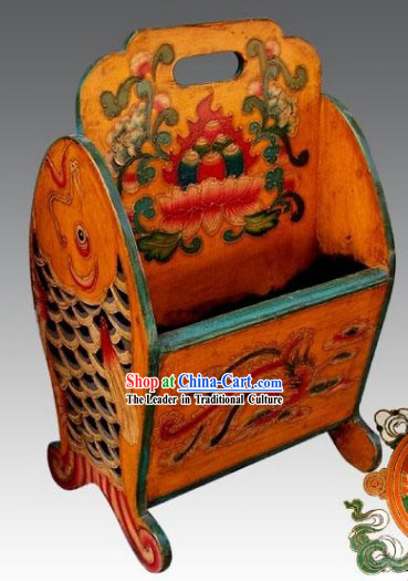 Chinese Classic Yellow Phoenix Newspaper Box