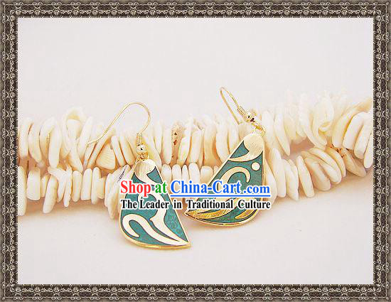 Chinese Classic Cloisonne Earrings-Beauty