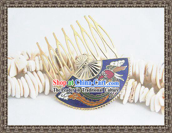 Chinese Classic Cloisonne Hairpin-Phoenix