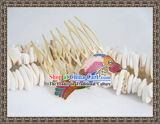 Chinese Classic Cloisonne Hairpin-Fish Princess