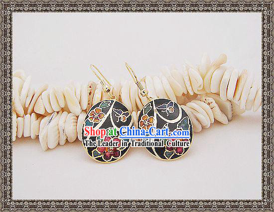 Chinese Classic Cloisonne Earrings-Fairy World