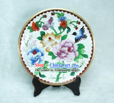 Chinese Antique Style Closionne Plate-Spring