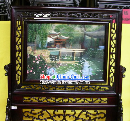Chinese Double-sided Embroidery Handicraft-Suzhou Landscape Garden