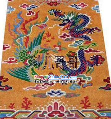 Art Decoration Chinese Hand Made Wool Dragon and Phoenix Rug 1 (180*93cm)