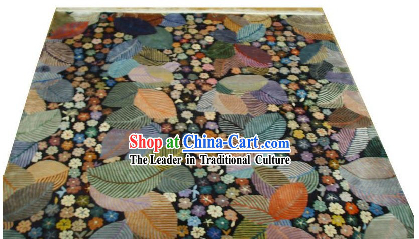 Art Decoration Chinese Hand Made Thick Natural Silk Rug(180*180cm)