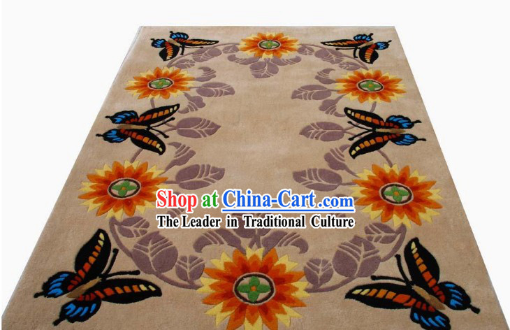 Art Decoration Chinese Hand Made Butterfly Carpet (120cm*180cm)