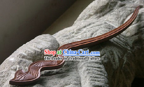 Hand Carved Chinese Traditional Walnut Hair Pin (Hairpin)- Years