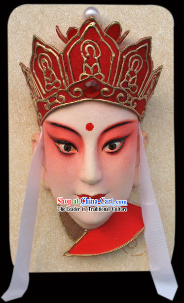 Handcrafted Peking Opera Mask Hanging Decoration - Monk Tang Seng of Western Journey