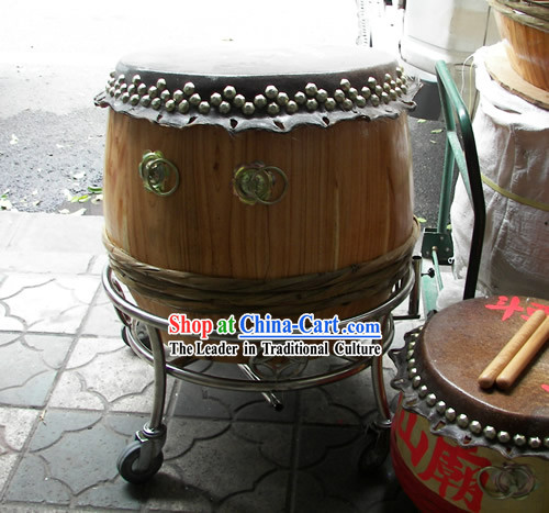 Dragon Dance Lion Dance Drum and Drum Cart Complete Set