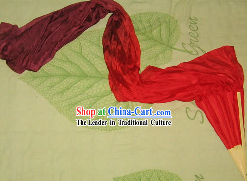 Chinese Bamboo and Silk Colour Transition Fan Veils