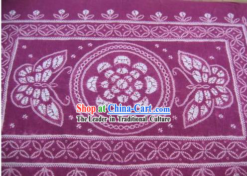 Chinese Classical Large Batik Tablecloth-Butterfly love Flower 4