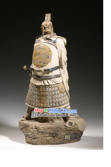 Chinese Classic Shiwan Ceramics Statue Arts Collection - Emperor