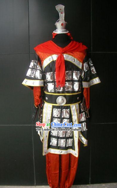 Chinese Classical Knight Costumes and Hat Complete Set
