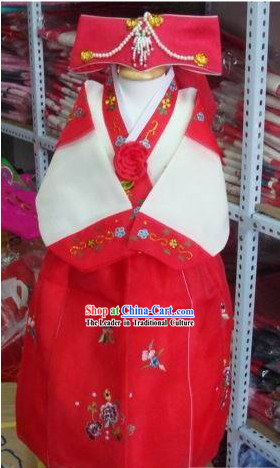 Traditional Korean Costumes Hanbok for Children