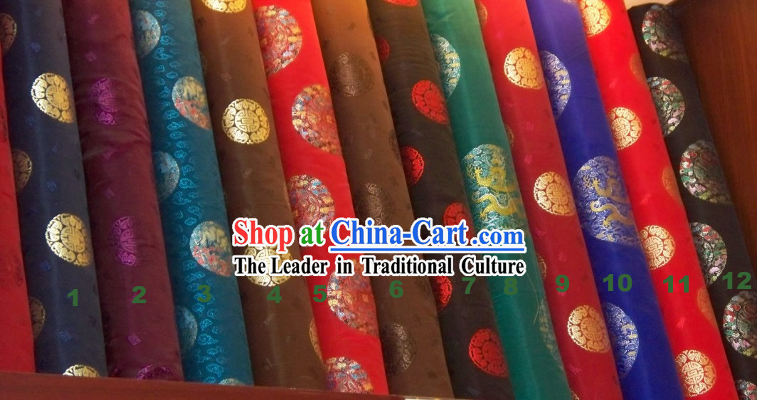 Chinese Classical Silk Draogn Fabric