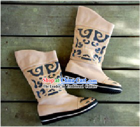 Chinese Traditional Handmade Long Boots for Women