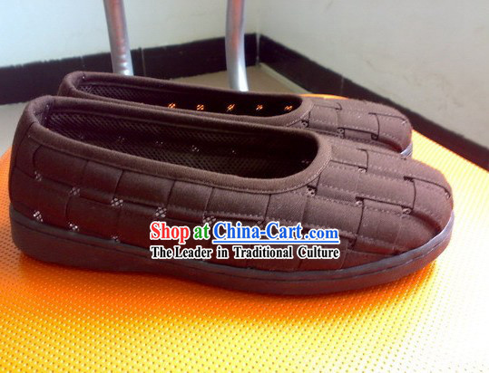 Kung Fu Practice Monk Shoes of Shaolin Temple (Coffee)