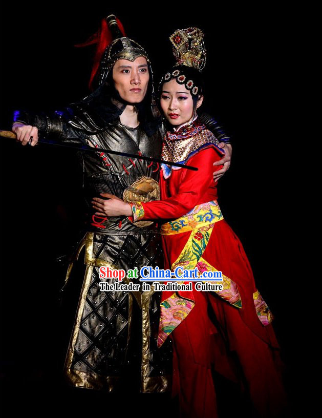 Farewell My Concubine Dance Costumes for Men and Women Complete Sets