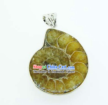 Kai Guang Feng Shui Chinese Colorful Stripes Trumpet Shell Pendant (harmony)